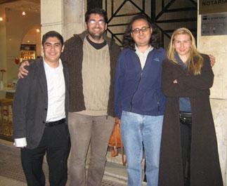 Christian, Luís, Javier y la leporcia