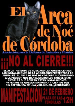 No al cierre de Arca de Noe de Córdoba